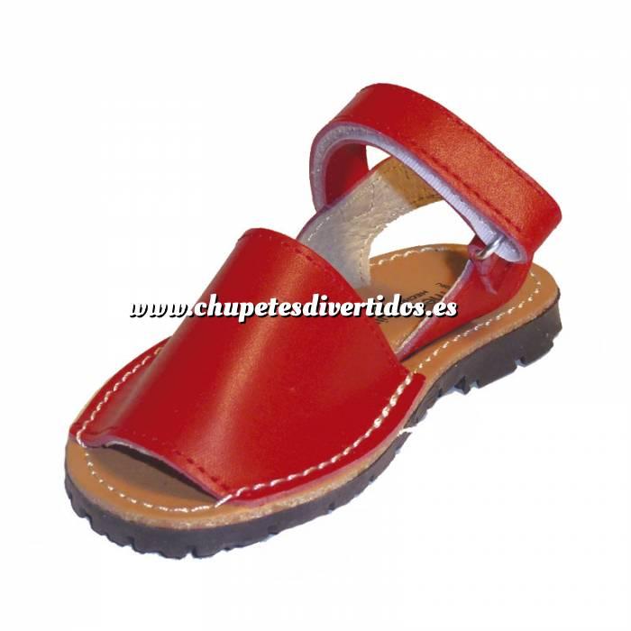 Imagen Roja Avarca - Menorquina piel niño Roja Talla 33