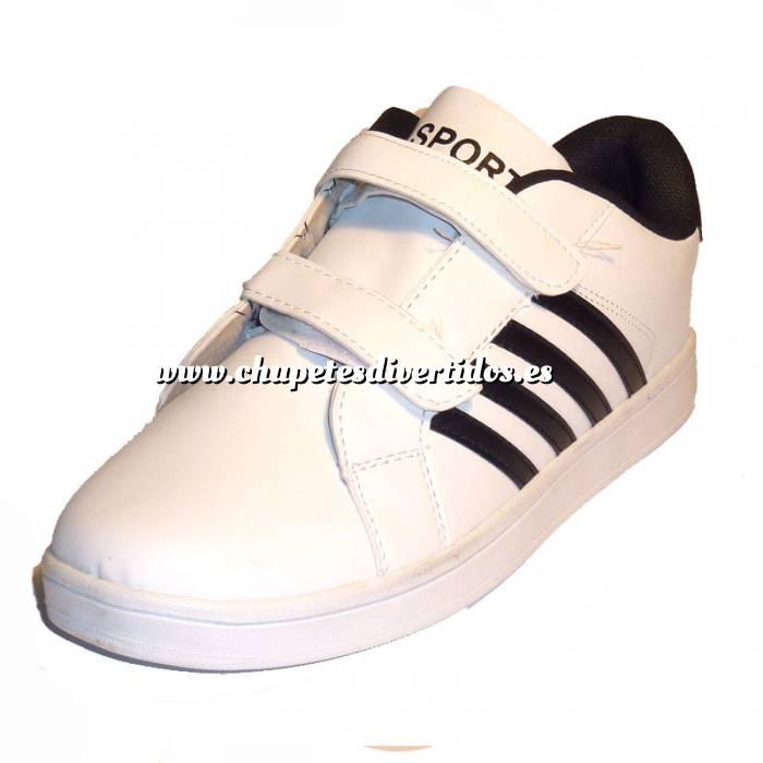 Imagen blanco-negro ZAPD Zapatilla deporte niño blanco-negro Talla 34