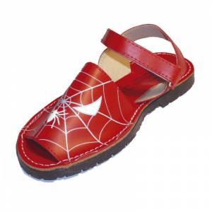Spiderman - Avarca - Menorquina piel niño Spiderman Talla 25
